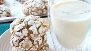 Gluten Free Gingerbread White Chocolate Crinkle Cookies