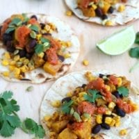 Tuesday's Dinner:Pumpkin Tacos with Black Beans