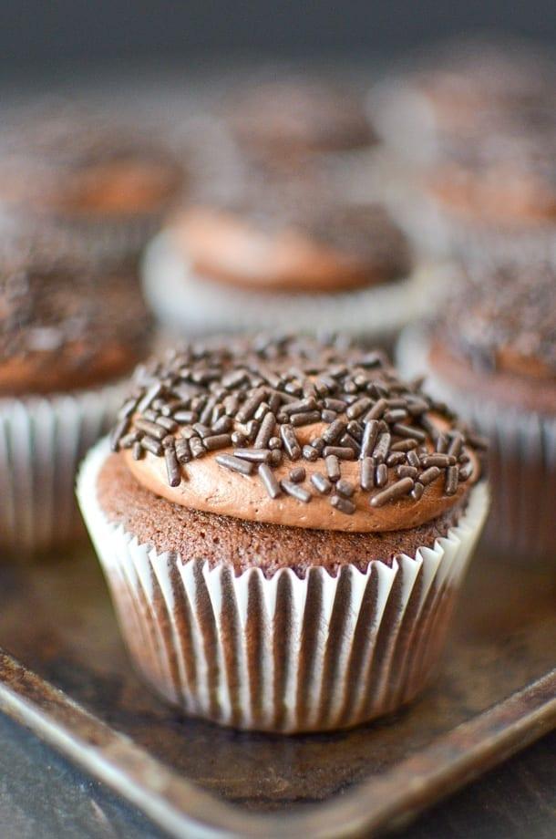 Dairy Free Chocolate Espresso Cupcakes