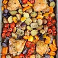 Friday's Dinner:Mediterranean Baked Chicken Thighs