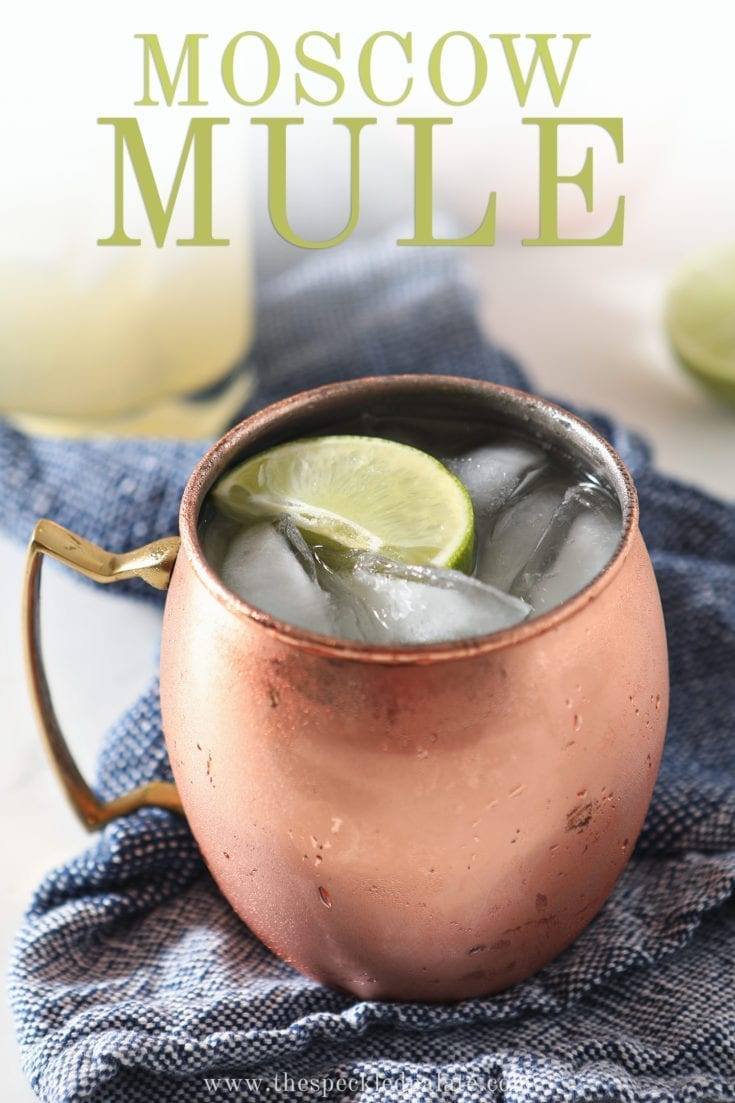 Light and citrusy, the Classic Moscow Mule cocktail is an easy, delicious mixed drink to make at home. #easyentertaining #happyhour #speckledpalate