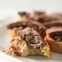 Tuesday's Dinner: Steak Bruschetta with French Onion Marmalade