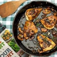 Tuesday's Dinner:Chicken with Mushrooms and Thyme