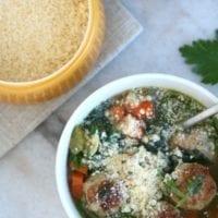 Monday's Dinner: Wedding Soup with Turkey Meatballs