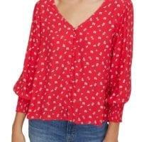 2. Harmony Balloon Sleeve Floral Top