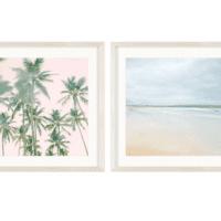 5. Vintage Beach Photography Decorative Framed Wall Art