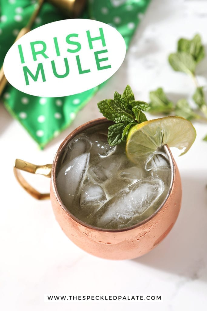 Overhead of a Irish Mule, with Pinterest text