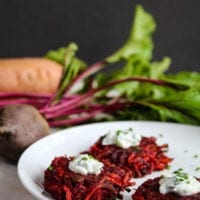 Thursday's Dinner: Sweet Potato and Beet Fritters