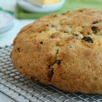 Dessert Idea: Sweet Irish Soda Bread with Golden Raisins and Currants