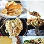 Collage for Dinner Divas Weekly Meal Plan 158, featuring five of the seven recipes shared