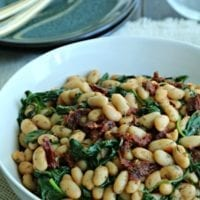 Side Dish Idea: White Beans with Arugula and Sun Dried Tomato
