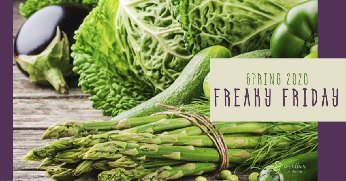 Freaky Friday Spring 2020 Banner with Asparagus and text