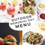 A collage of four images sharing an Outdoor Memorial Day Menu items
