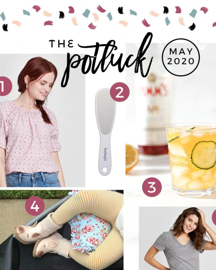A square collage of six items that The Speckled Palate loved in May 2020