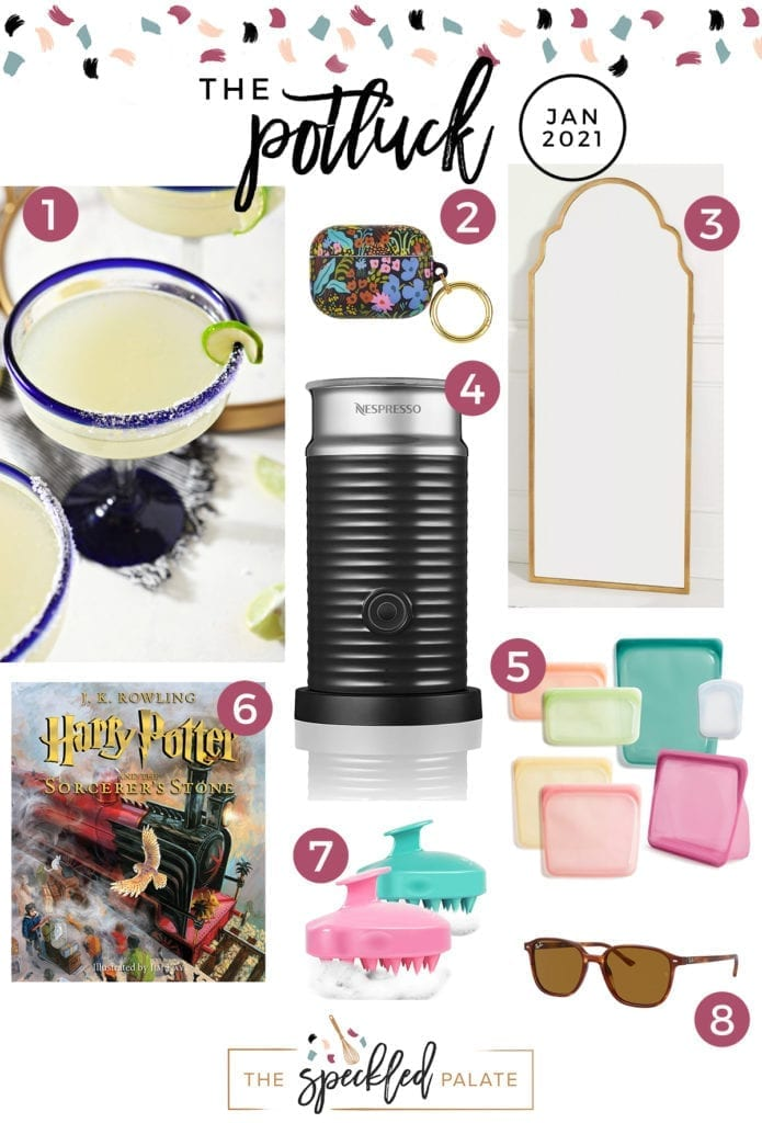 Collage of eight items on this month's love list