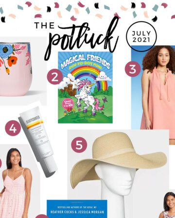 Square collage of products on July 2021's love list